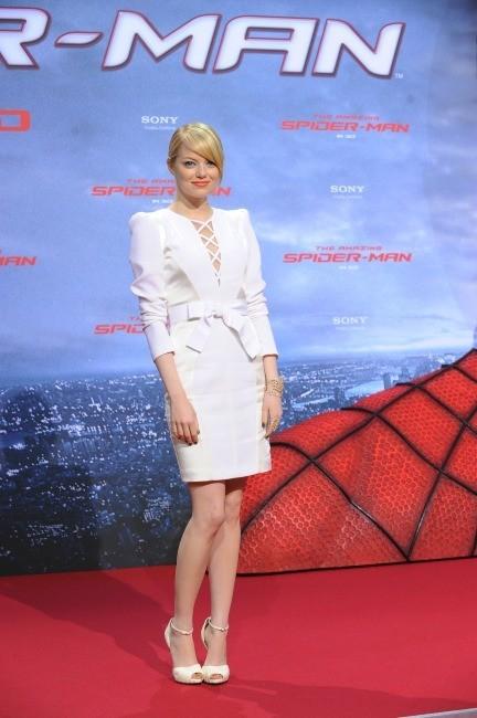 Emma Stone lors de la première de The Amazing Spider-Man à Berlin, le 20 juin 2012.