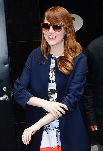 Emma Stone à New York le 16 juillet 2014