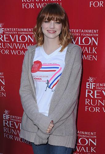 Emma Stone à New York le 3 mai 2014
