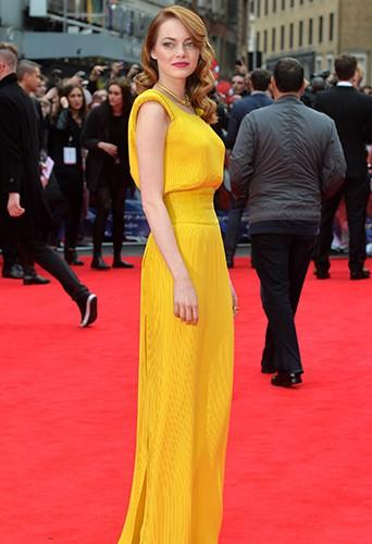 Emma Stone à Londres le 10 avril 2014
