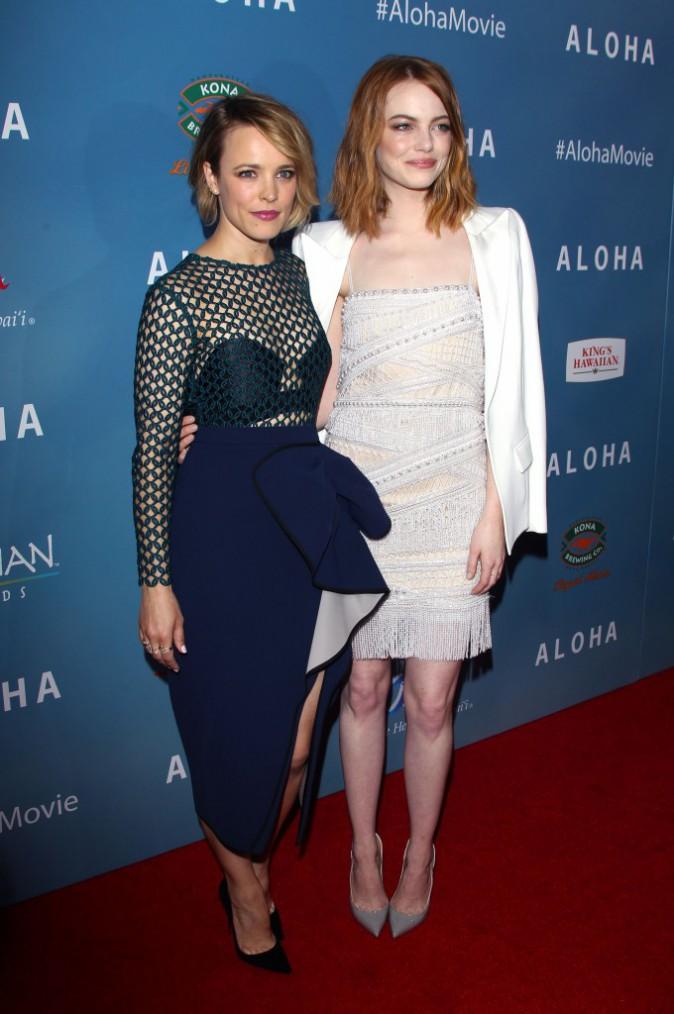 Rachel McAdams et Emma Stone le 27 mai 2015