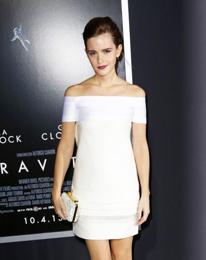 Emma Watson lors de la première du film Gravity à New York, le 1er octobre 2013.