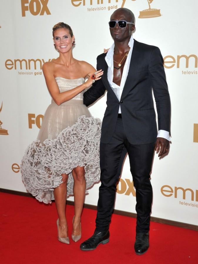 Heidi Klum et Seal lors des Emmy Awards 2011 à Los Angeles, le 18 septembre 2011.