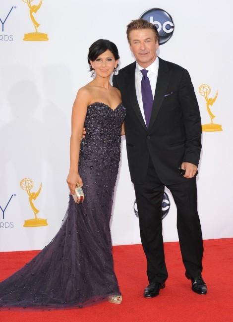 Alec Baldwin et Hilaria Lynn Thomas lors des Emmy Awards à Los Angeles, le 23 septembre 2012.