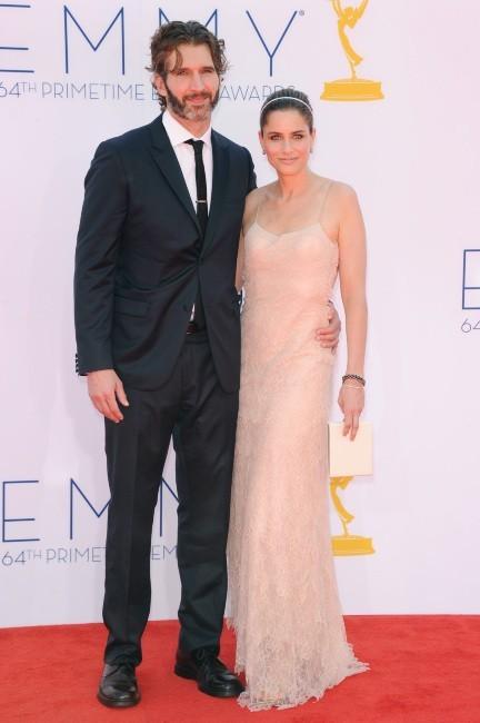 David Benioff et Amanda Peet lors des Emmy Awards à Los Angeles, le 23 septembre 2012.
