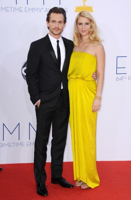 Hugh Dancy et Claire Danes lors des Emmy Awards à Los Angeles, le 23 septembre 2012.