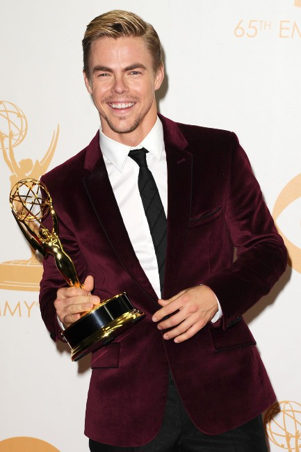 Derek Hough lors de la cérémonie des Emmy Awards à Los Angeles, le 22 septembre 2013.