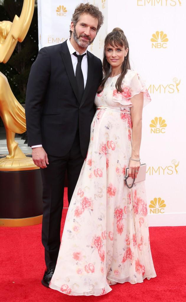 Photos : Emmy Awards 2014 : Amanda Peet : enceinte de son troisième enfant, elle affiche son joli baby bump !