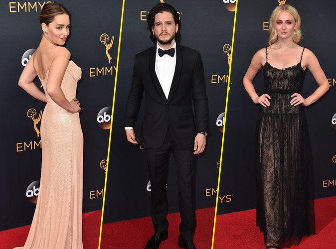 Emmy Awards 2016 : Emilia Clarke, Kit Harrington, Sophie Turner... le cast de