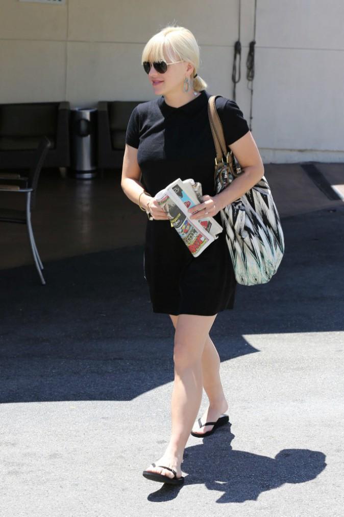 Total look noir pour la femme de Chris Pratt !