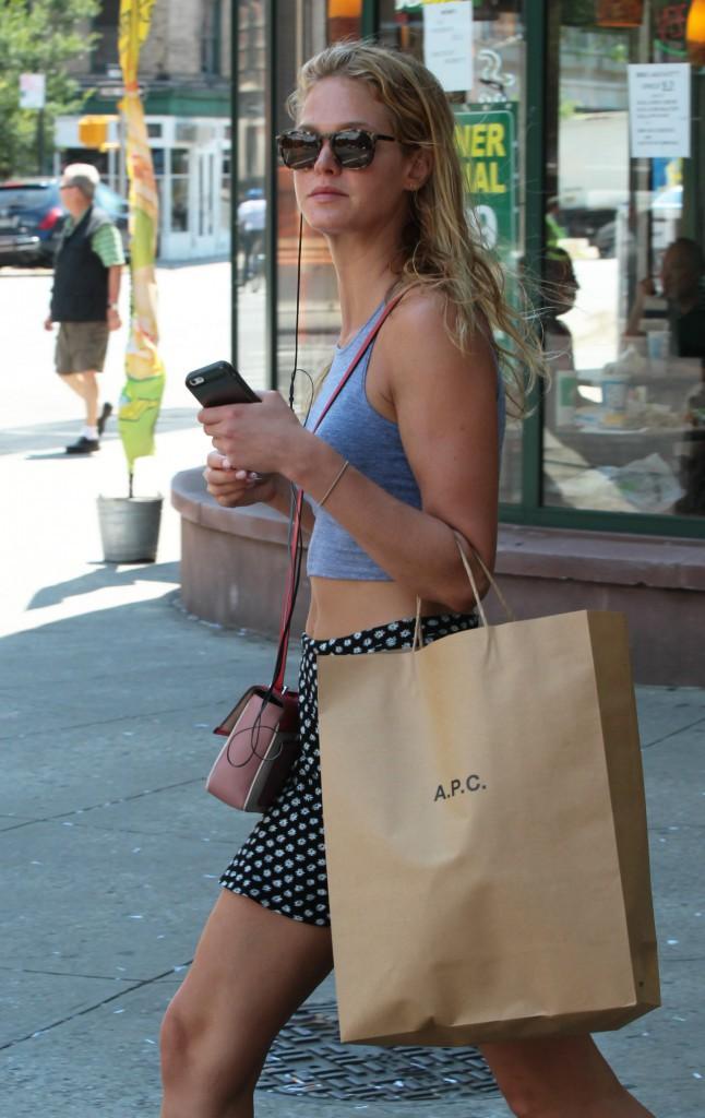 Erin Heatherton à New York, le 6 août 2013.