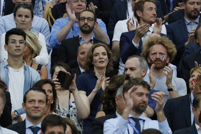 Nathalie Kosciusko-Morizet s'est rendue au Stade de France pour soutenir les Bleus