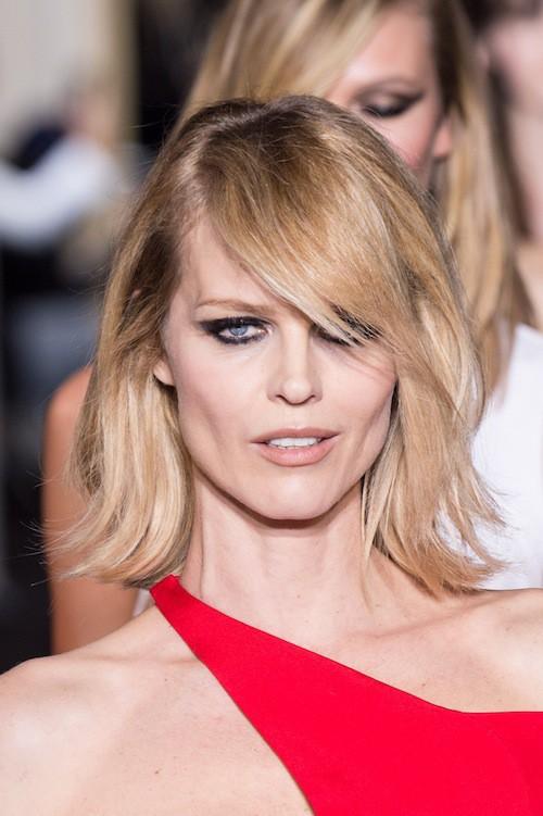 Eva Herzigova au défilé Haute Couture Versace, le 25 janvier 2015