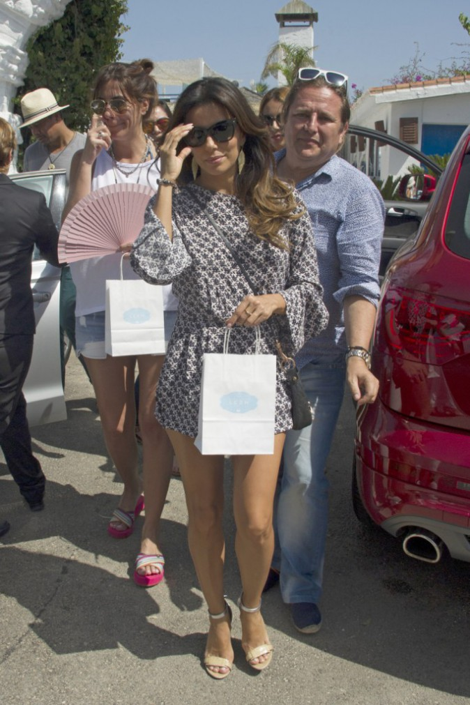 Eva Longoria à Marbella le 18 juillet 2014