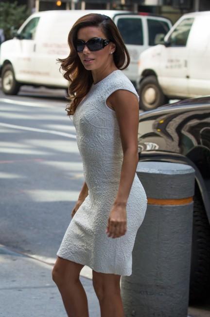 Eva Longoria en promo à New York, le 8 avril 2013.