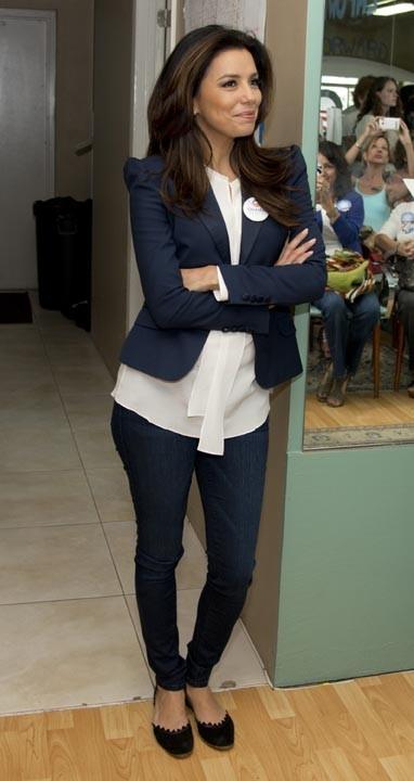 Eva Longoria à Tampa, en Floride, le 27 octobre 2012