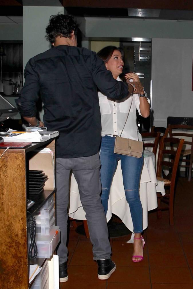 Eva Longoria : canon pour une simple sortie au restaurant... Avec Orlando Bloom !