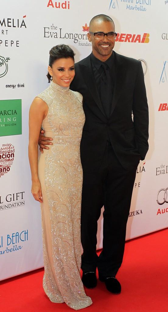 Eva Longoria et Shemar Moore lors du Global Gift Gala à Marbella, le 4 août 2013.