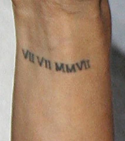 Eva Longoria avec son fameux tatouage.