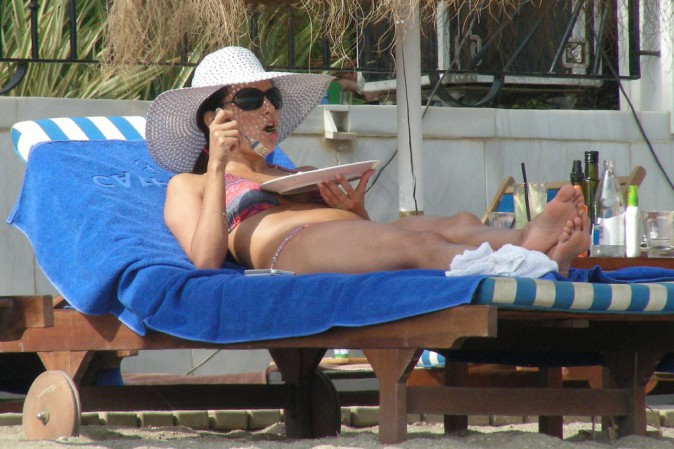 Eva Longoria à Marbella avec son chéri Ernesto Arguello le 4 août 2013