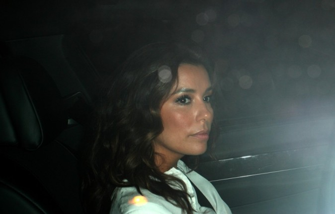 Eva Longoria à la sortie d'un dîner en solo dans le West Hollywood le 2 juillet 2012