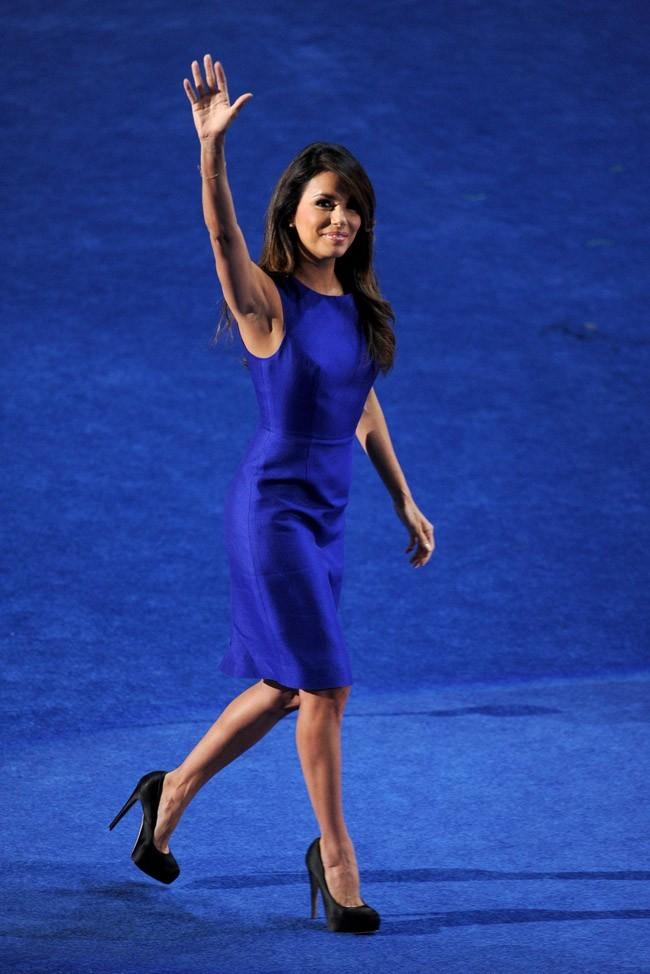 Eva Longoria à la Convention Nationale démocrate le 6 septembre 2012 à Charlotte