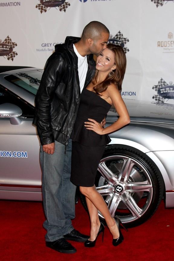 """Eva Longoria et Tony Parker lors de la soirée """"Rally For Kids With Cancer"""" à Los Angeles, le 22 octobre 2010... Soit peu de temps avant l'annonce de leur divorce !"""