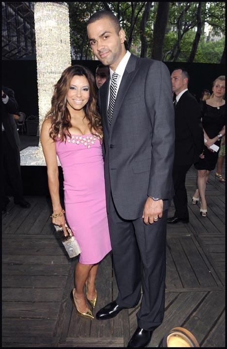 Eva Longoria et Tony Parker lors des CFDA Awards à New York, le 2 juin 2008.