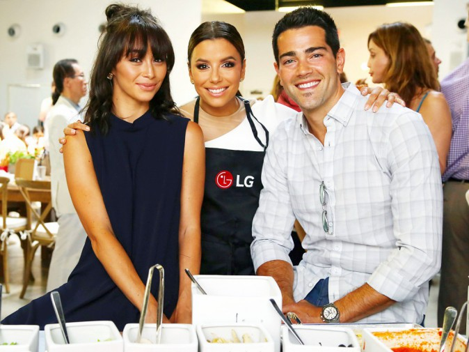 Eva Longoria, Jesse Metcalfe et Cara Santana le 22 août 2015