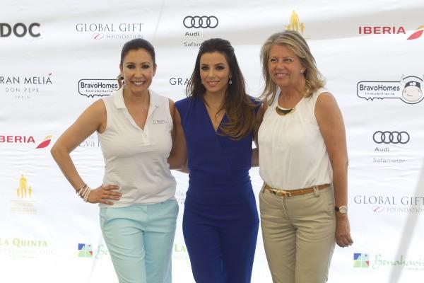 Eva Longoria au tournoi de golf de charité Global Gift à Marbella, le samedi 19 juillet