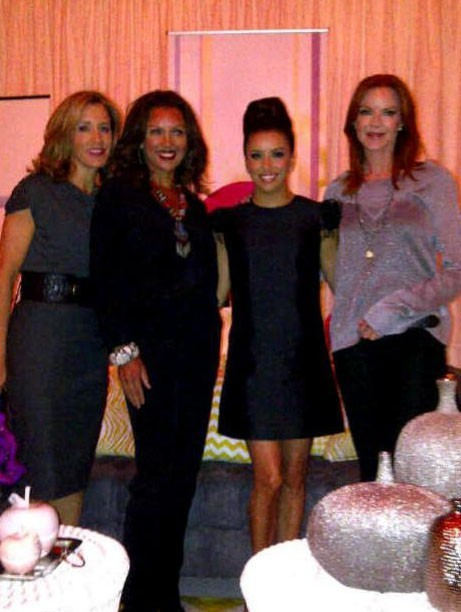 Felicity Huffman, Vanessa williams, Eva Longoria et Marcia Cross lors de la soirée Women of Hollywood, le 15 novembre 2011.
