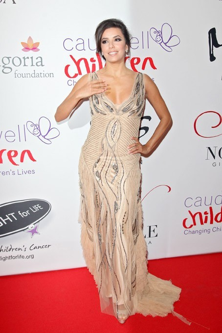Eva Longoria au Noble Gift Gala à Londres le 8 décembre 2012