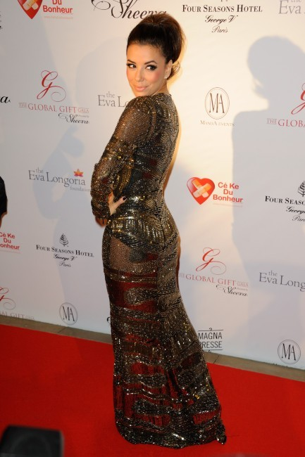 Eva Longoria lors du Global Gift Gala à Paris, le 28 mai 2012.