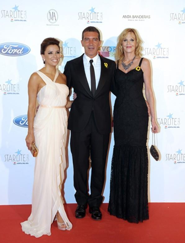 A Marbella hier soir avec Antonio Banderas et Melanie Griffith !