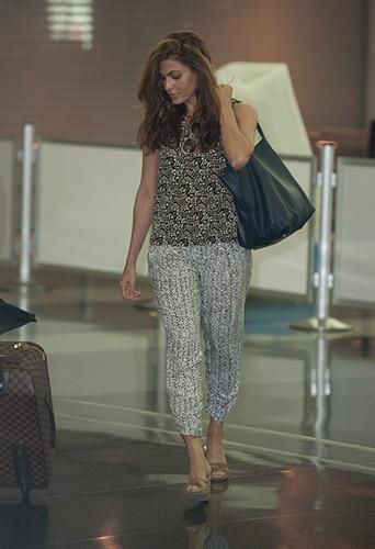 Eva Mendes à New-York le 9 juillet 2013