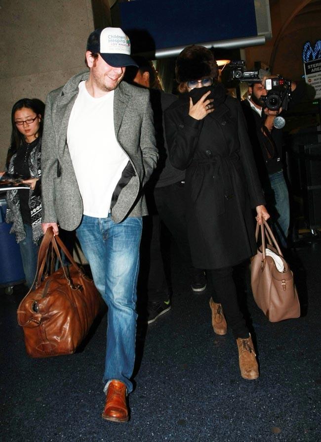 Eva à son arrivée à Los Angeles !