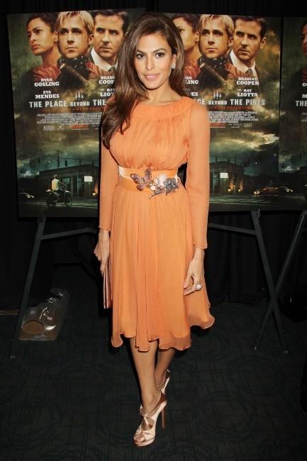 Eva Mendes lors de la première de The Place Beyond the Pines à New York, le 28 mars 2013.