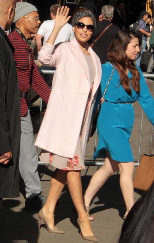 Eva Mendes en promo à New York, le 19 septembre 2013.