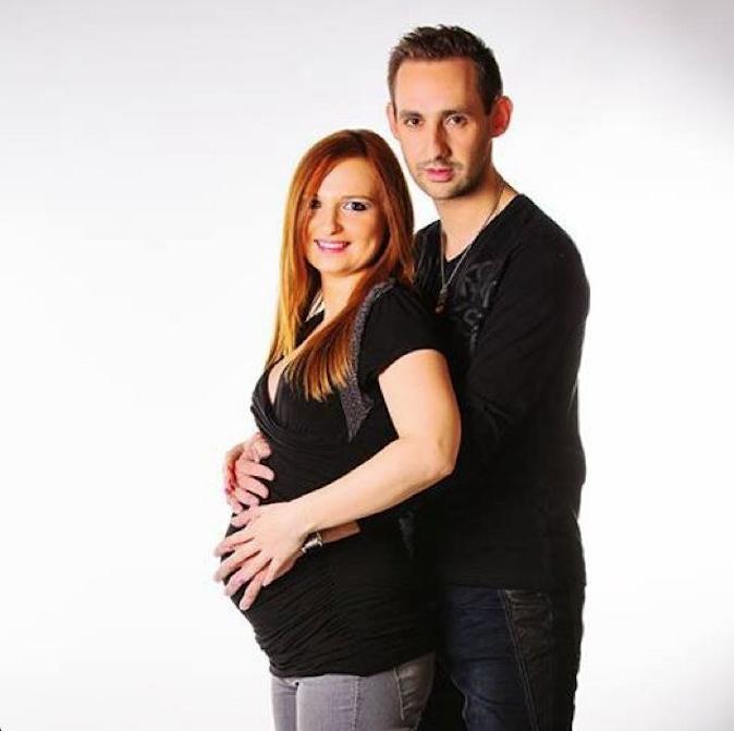 Florent et Anne-Sophie, enceinte de huit mois d'une petite princesse !