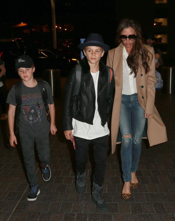 La famille Beckham le 1er novembre 2015