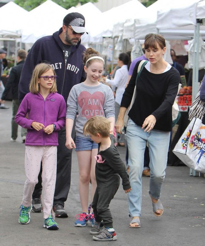 Jennifer Garner et Ben Affleck en famille, le 14 juin 2015