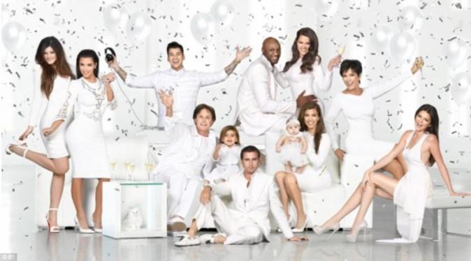 Carte de voeux 2012 de la famille Kardashian.