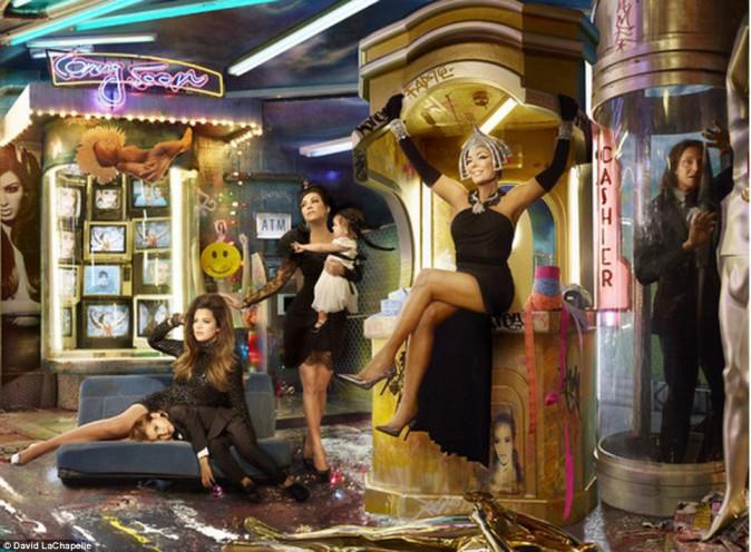 Carte de voeux 2013 de la famille Kardashian.