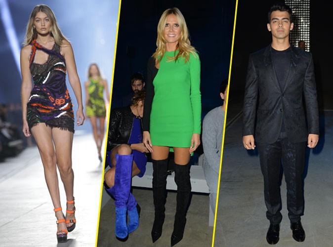 Photos : Fashion Week de Milan : Gigi Hadid star de Versace devant Heidi Klum mais surtout pour Joe Jonas !