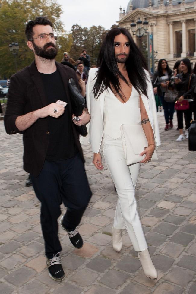 Conchita Wurst à Paris le 4 octobre 2015
