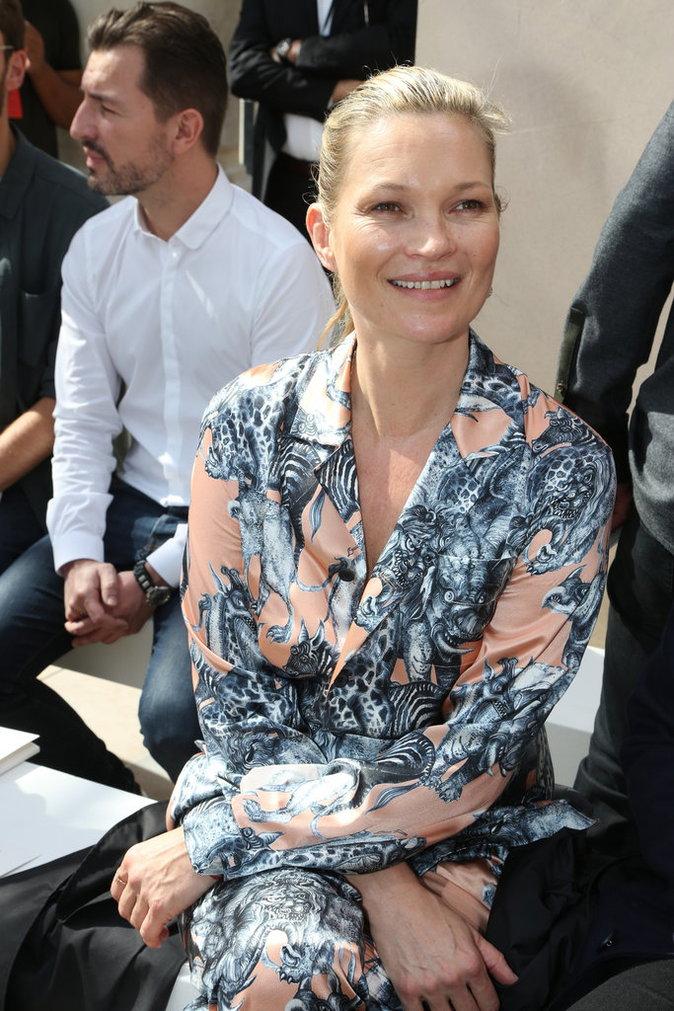 Kate Moss au défilé Louis Vuitton à Paris ce jeudi 23 juin 2016