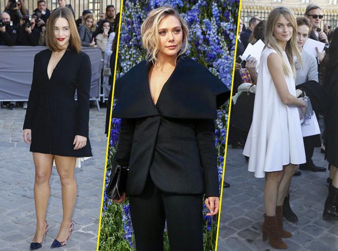 Photos : Fashion Week de Paris : Emilie Clarke, Elizabeth Olsen, Cressida Bonas… Dior sinon rien !