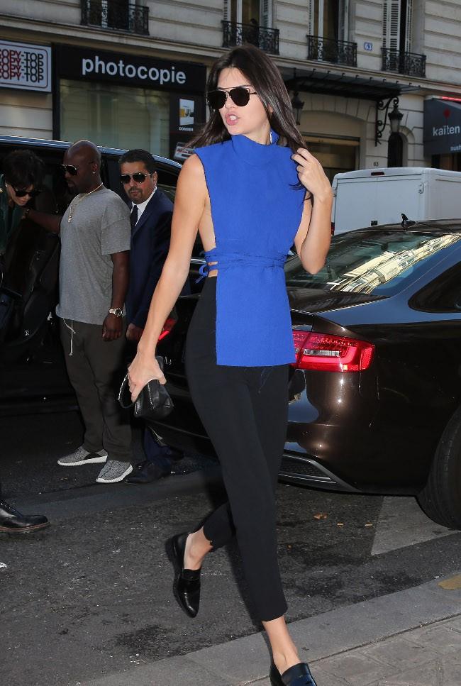 Kendall Jenner à Paris le 30 septembre 2015