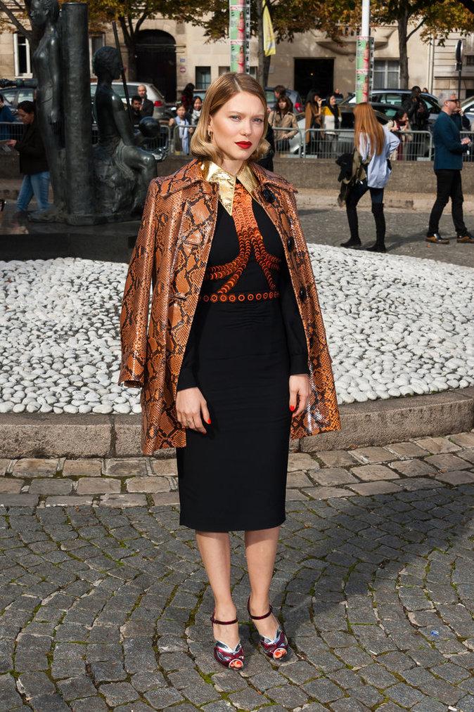 Léa Seydoux au défilé Miu Miu le 7 octobre 2015