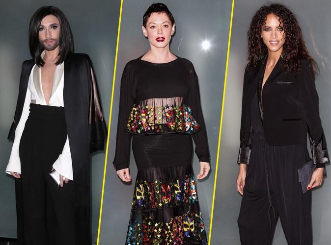 Fashion Week Haute Couture : Conchita Wurst, Rose McGowan, Noémie Lenoir : un parterre de stars pour le défilé JPG !